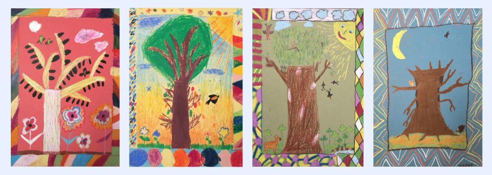 Kinderärzte Hild und Borger - Kinderzeichnungen Bäume